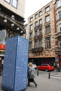 Edificio decorado en Bruselas