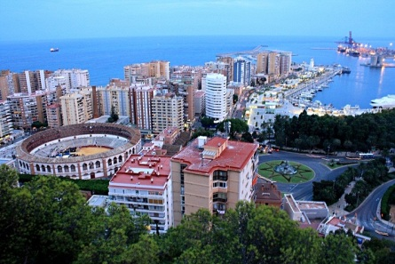 Panorámica Puerto de Málaga