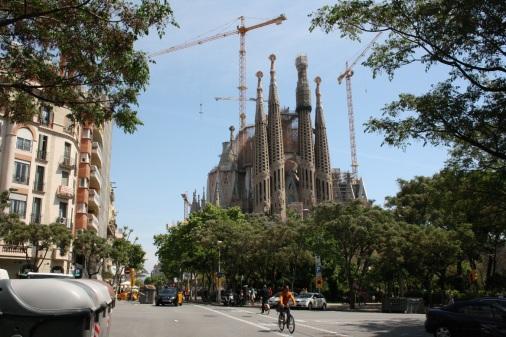 Vista de la Sagrada Familia, de Gaudí