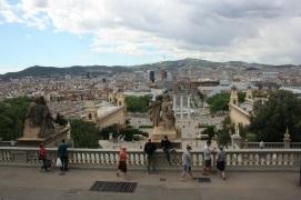 Vista de la ciudad desde el Museo Nacional de Arte de Barcelona