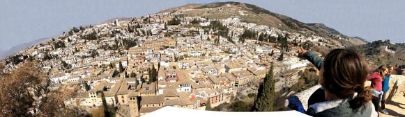 Panorámica del Albaycin, desde la Alhambra