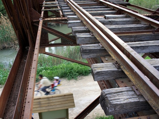 Carril bici en el río Segura, a la altura de Alguazas 2010