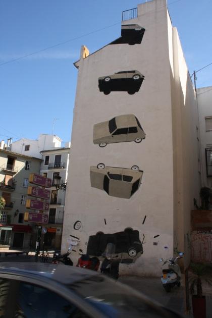 Graffiti en la plaza del Tossal, Valencia 2012